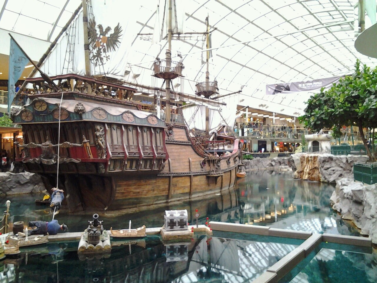 West Edmonton Mall pirate ship santa maria replica columbus lagoon