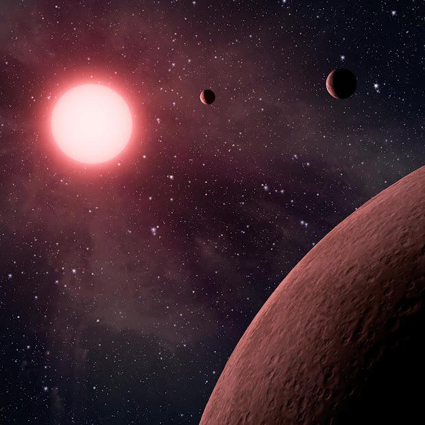 Mini Planetary System KOI-961 (Artist Concept)