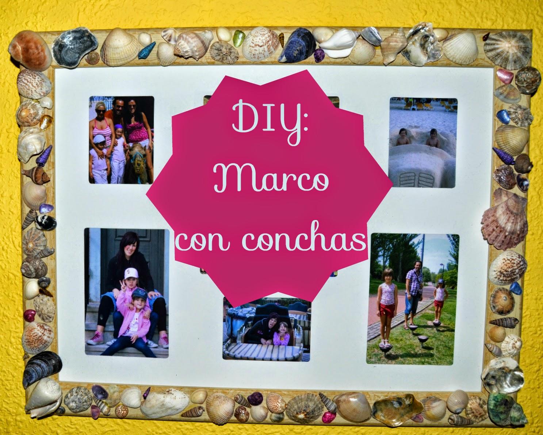 llamamesari: DIY Marco con conchas ☀ DIY Seashell frame