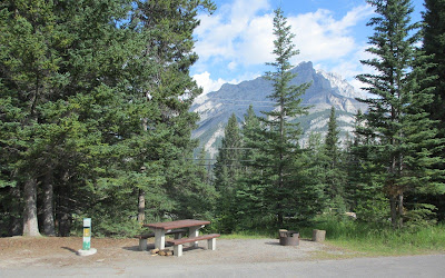 Campingplads ved Banff by i Banff National Park, Canada.