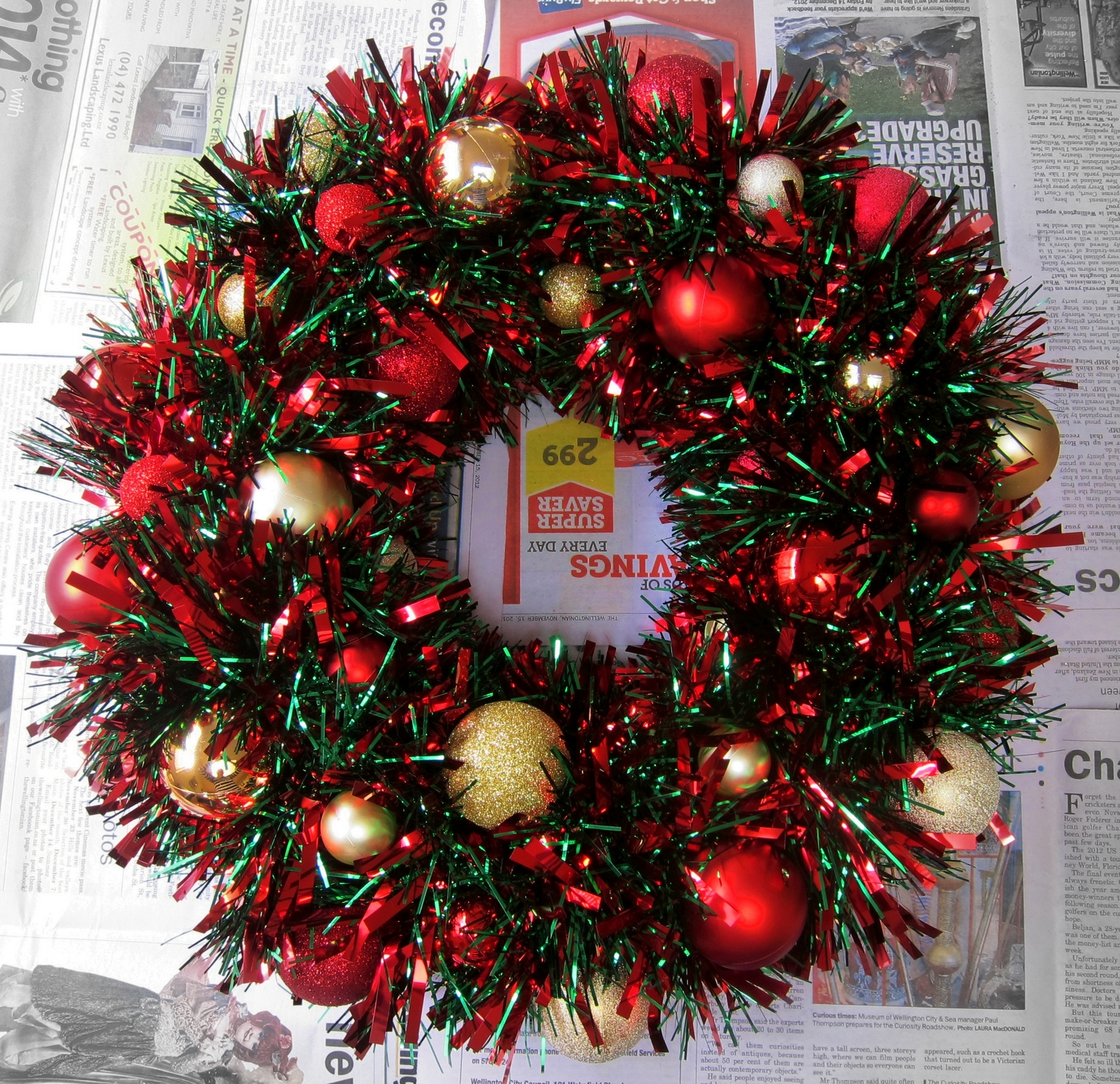 November 2012 the adventures of mnms repeat about 20 times using all the bigger baubles this is the bit that takes the most time standing there holding the bauble onto the ring until its set solutioingenieria Choice Image
