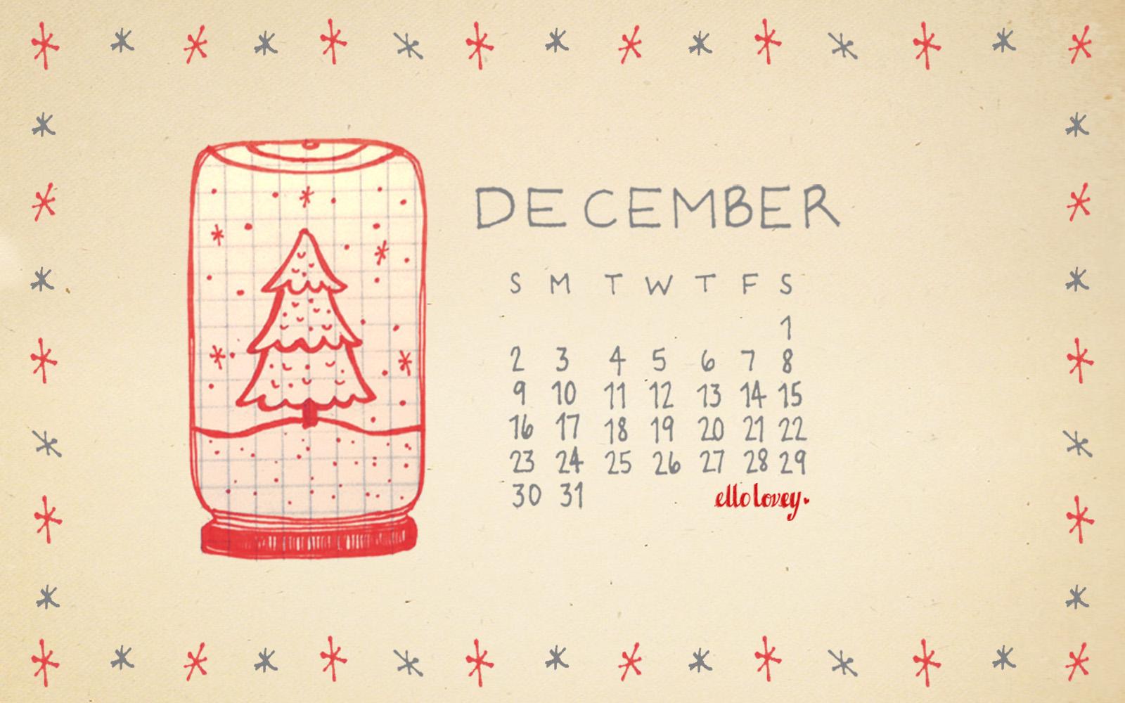 Calendar Desktop Wallpaper December : Rhi creations december