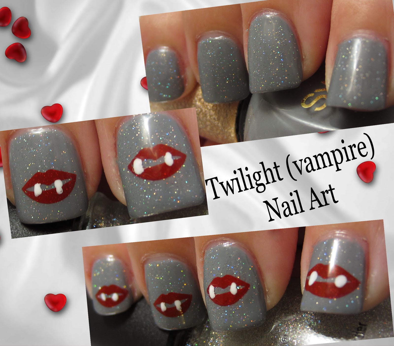 The Manicured Monkey: Vampire Nail Art (for Twilight)