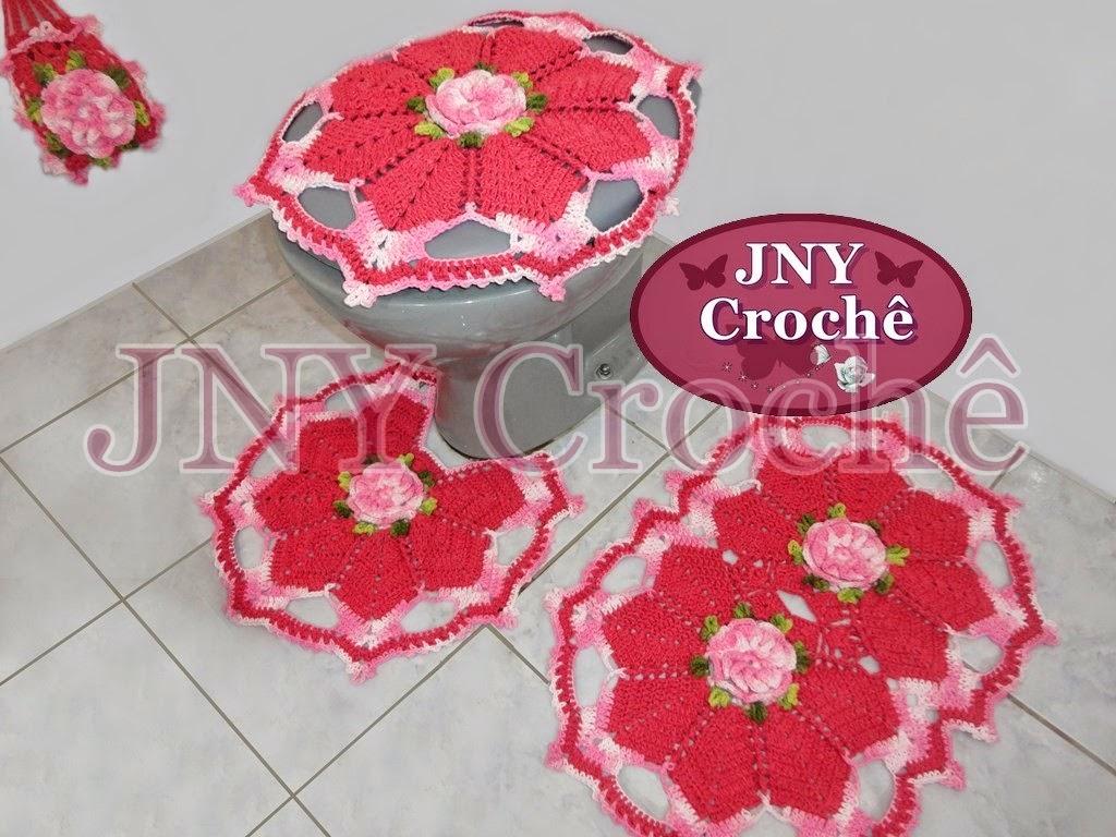 jogo de banheiro de croche com flor de cerejeira jny croche%2B(3).JPG #AA2234 1024 768