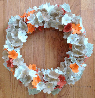 diy fall burlap hydrangea wreath tutorial