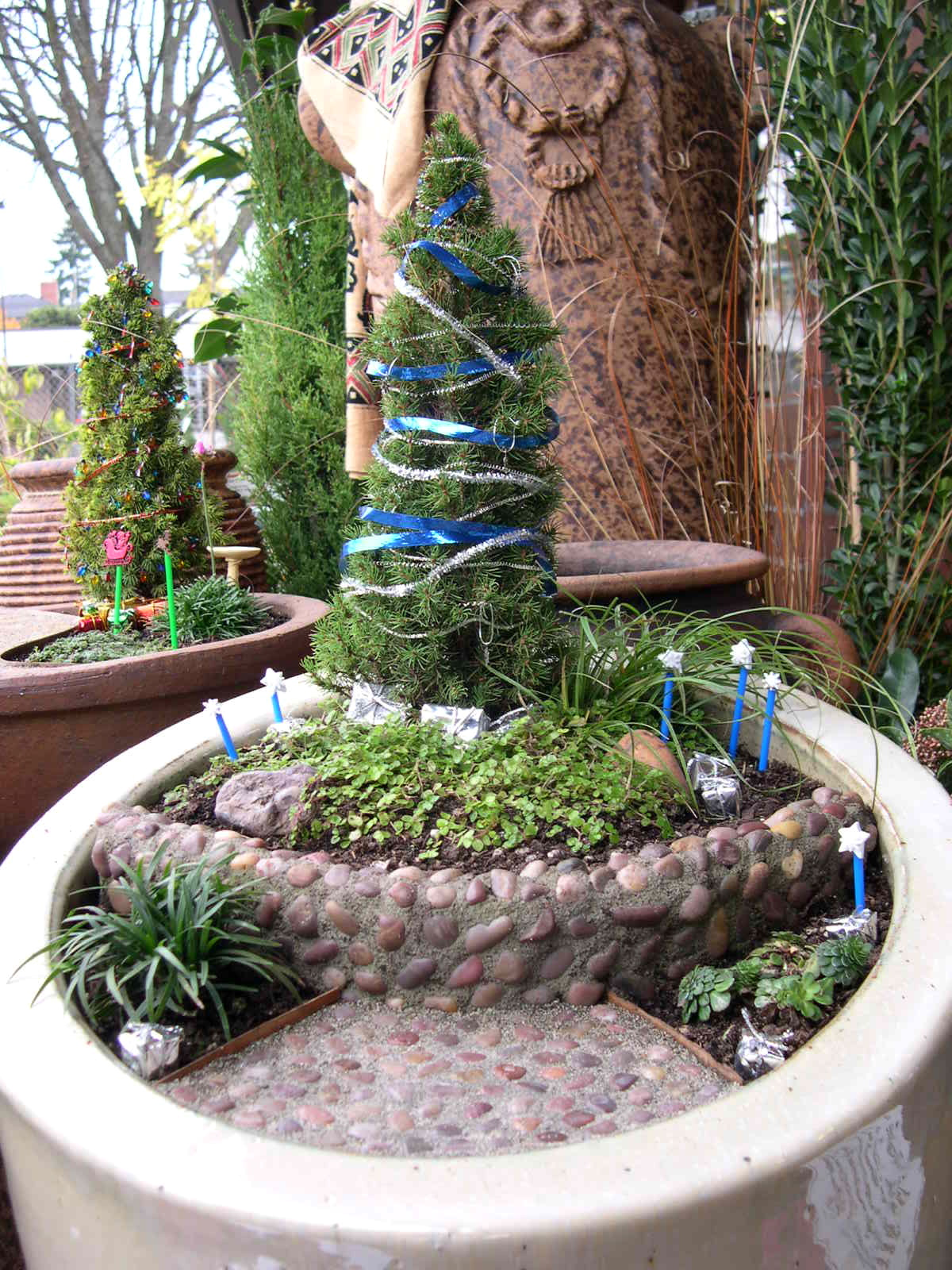 enfeites para mini jardim : enfeites para mini jardim:Pedacinho de Jardim: Mini jardins natalinos