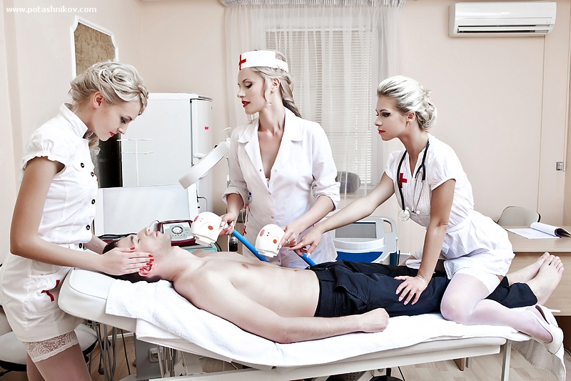 sick patient receives the best treatment from three sexy nurses  271651