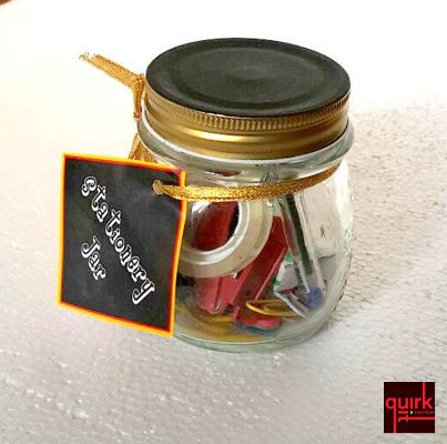 Quirk It Design_Mason jar stationery holder with chalk-board lid_DIY_Quirky_Home_Decor_1