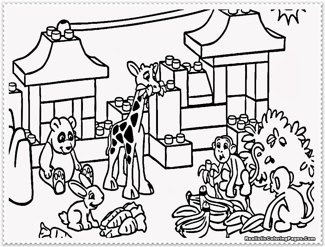 Zoo Coloring Pages - Kidsuki