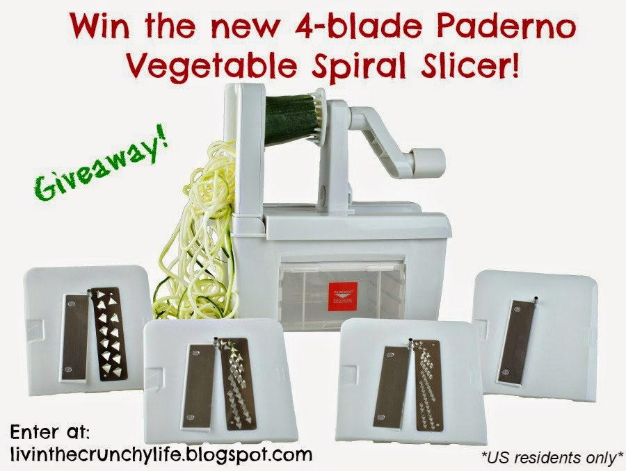Giveaway! Win the new Paderno 4-blade Vegetable Spiral Slicer!