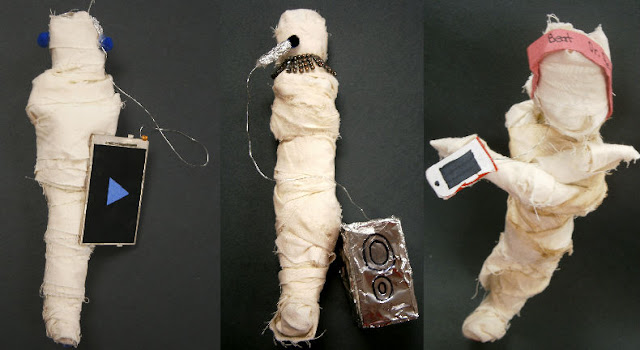 Mummy Sculpture Forms with Modern Accessories Art Lesson Plan