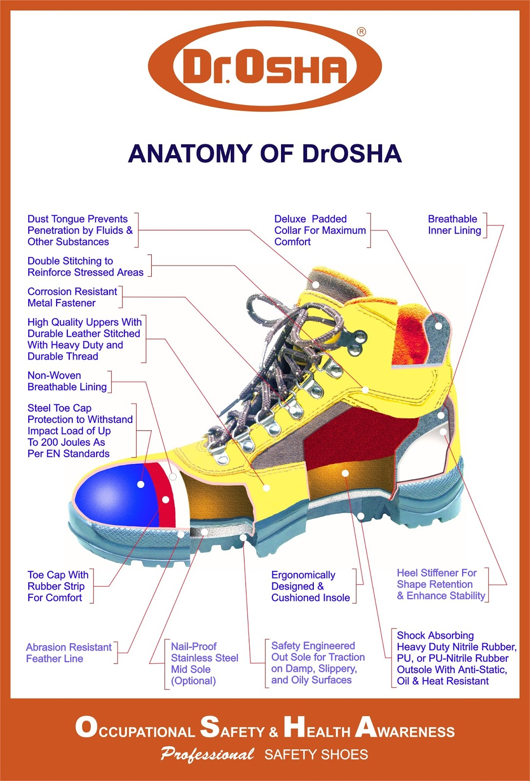 SAFETY SHOES ANATOMY DR OSHA SAFETY SHOES | BUZZ PICTURE