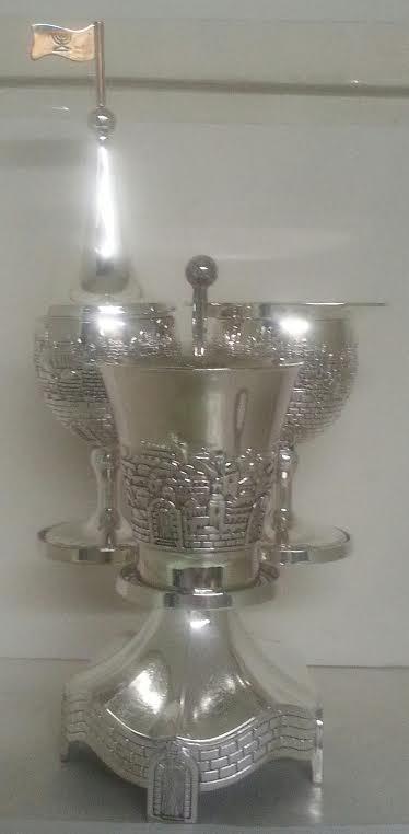 Set Havdallá Shabat en Pedestal 26 ctms