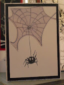 Spider Web Card By Angela Coombs