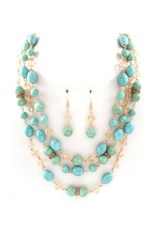 Necklace Set in Turquoise