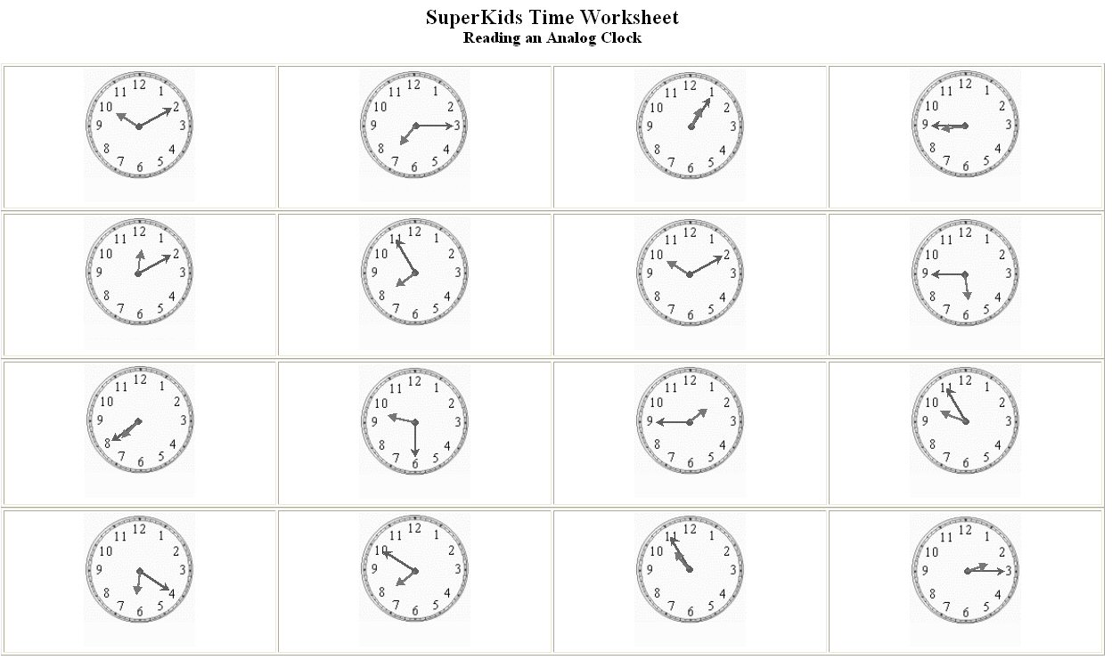 394 FREE ESL Time worksheets