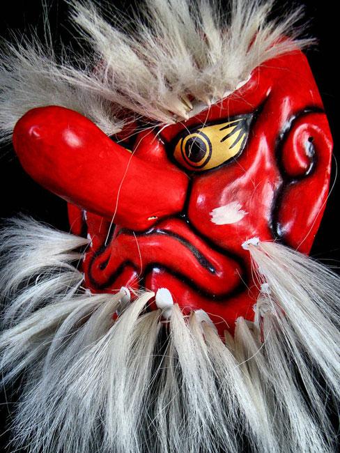 Cosplay Costume Halloween Party Concert Japanese Buddhist Evil Tengu Scary Mask