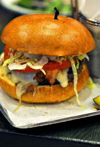 The Smokehouse-Bacon BBQ Burger - Burgers and More by Emeril - Bethlehem, PA | Taste As You Go