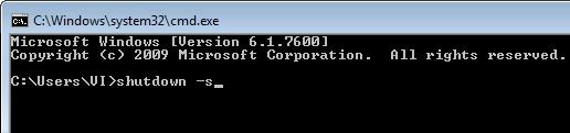 Shutdown Computer Command