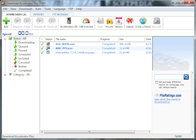 Download Accelerator Plus 10 - Download Window