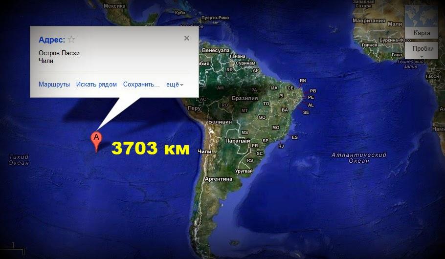Остров пасхи где находится на карте