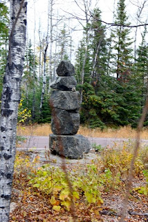 photo of highway cairn