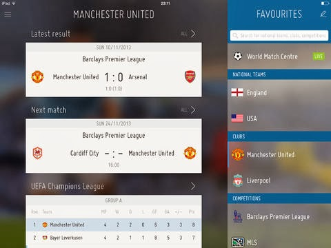 FIFA App Android for footbal fans