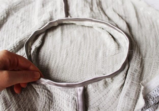 Pullu Kumaştan Abiye Bolero Dikimi - Resimli Anlatım 9