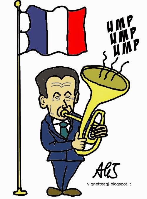 Sarkozy, UMP, amministrative francesi, vignetta, satira