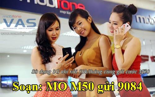 Hướng dẫn đăng ký 3G gói cước M50 của Mobifone