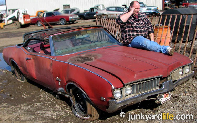 Keith Lively of Morris, Alabama discovered a rare 1969 Cutlass convertible on the chopping block at a local scrap yard and jumped into action. He bought what is normally unobtainable at scrap yards - an entire car.