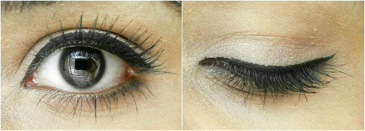 Kryolan Color Intensifier Mascara in Black EOTD