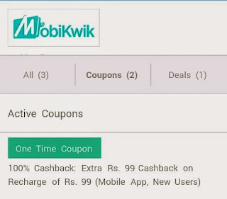 Mobikwik CouponDunia - 100% Cashback Offer [New User]