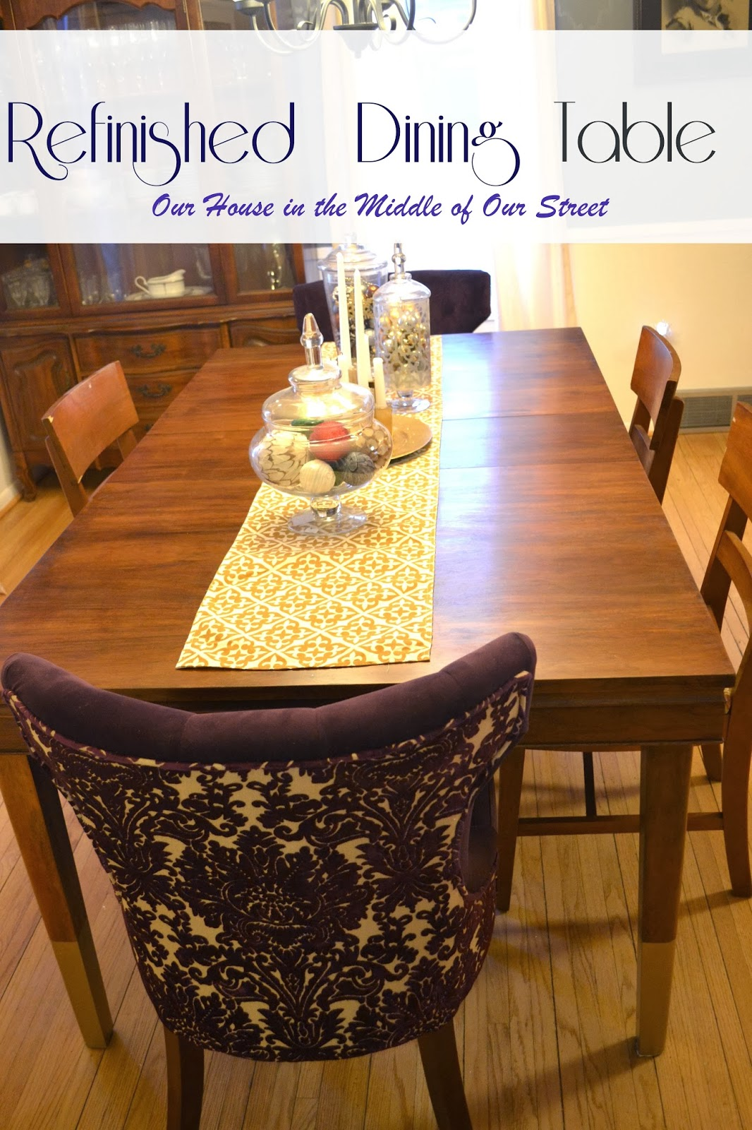 Our House In The Middle Of Our Street Refinishing A Dining Table - Martha stewart dining room table