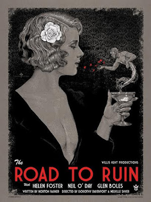 """The Road To Ruin"" Screen Print by Timothy Pittides"