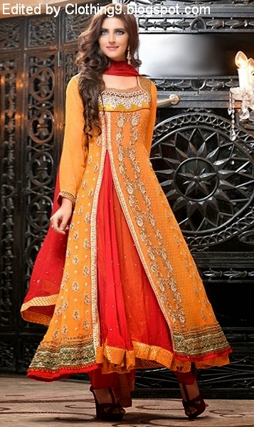 Latest angrakha style dresses designs collection 2017 for women