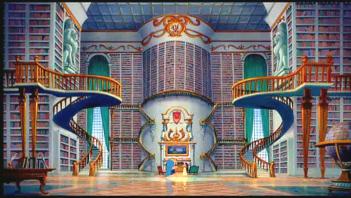 an expansive library