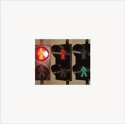Hình ảnh đèn tín hiệu giao thông đi bộ xanh đỏ D200 loại tròn