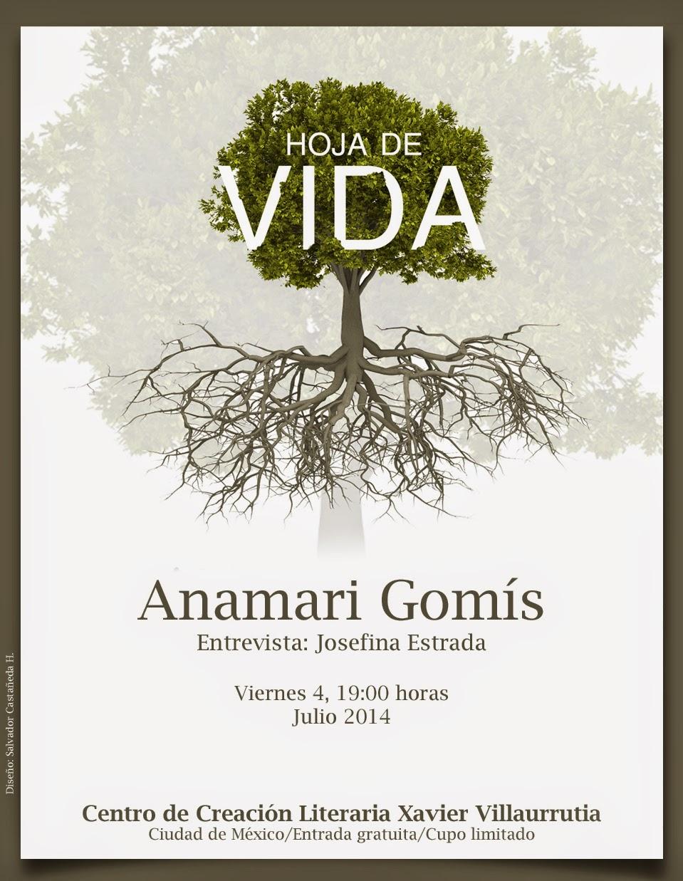 """El ciclo """"Hoja de vida"""" presenta la historia de Anamari Gomís en el CCLXV"""