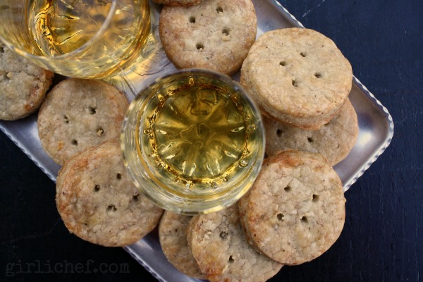 Cashel Blue Cheese & Hazelnut Shortbread | www.girlichef.com