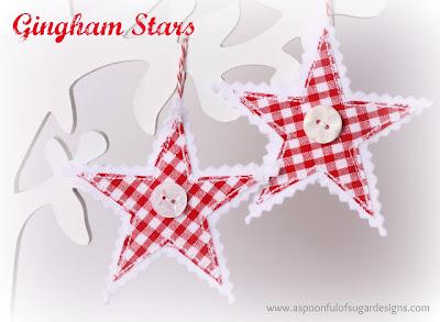 Estrelas de tecido passo a passo