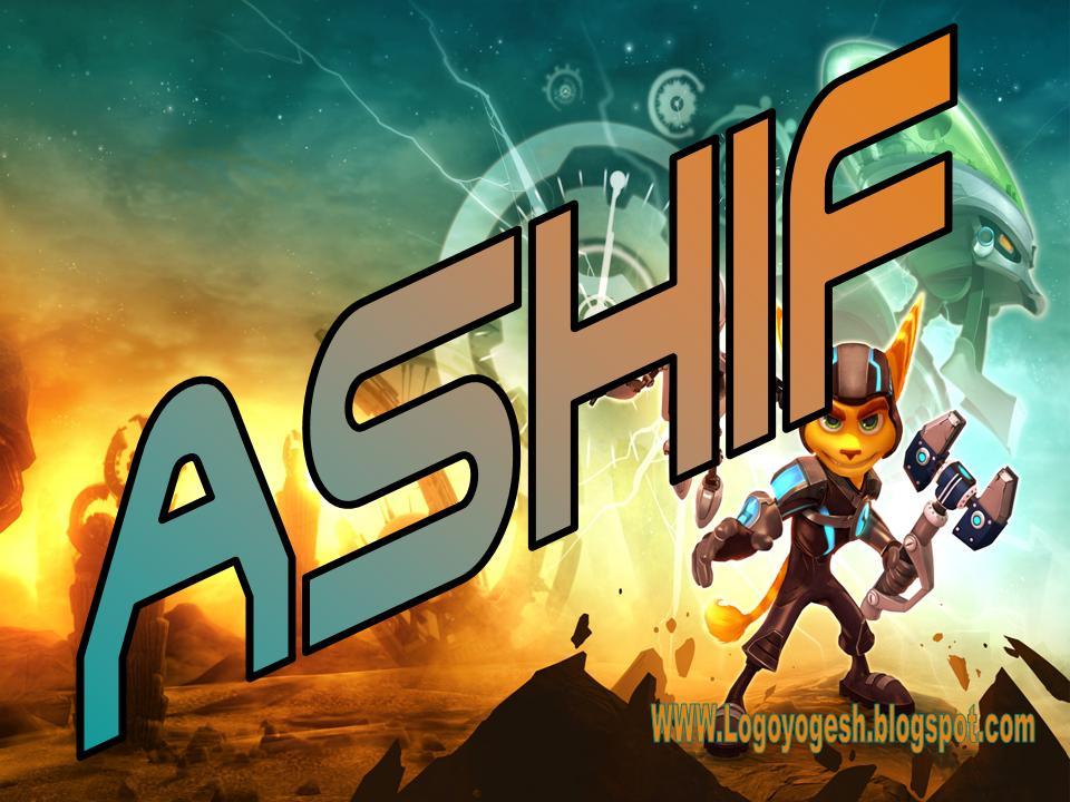 logo and name wallpaper ashif logo