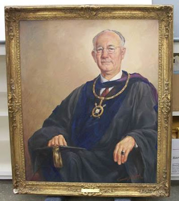 Francis J. Quirk Painting of Earl Laverne Crum
