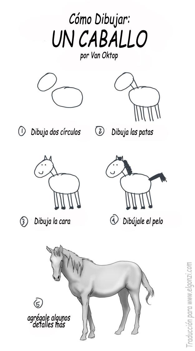 Como dibujar un caballo [Tutorial].