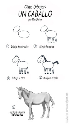como dibujar un caballo facilmente