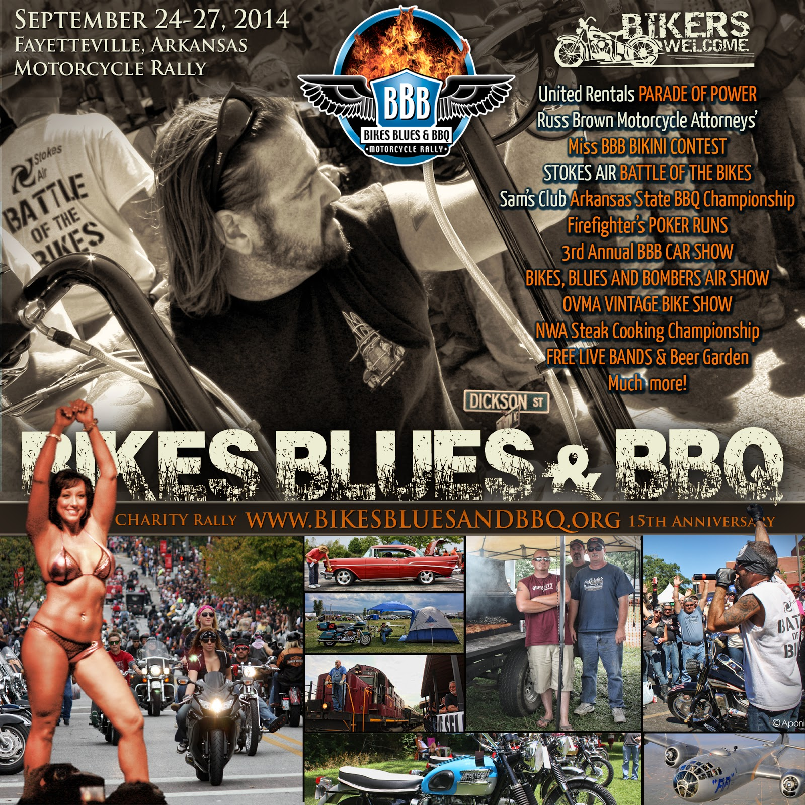 Bikes Blues And Bbq Fayetteville Ar 2014 Bikes Blues and BBQ Events
