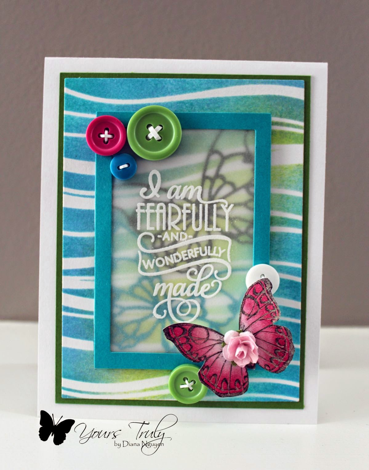 Diana Nguyen, card, Verve, scripture, baby, butterfly