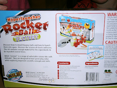 Wild Science hyperlauncher rocket ball kit box