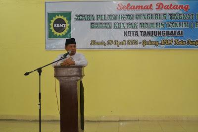 Kakankemenag Hadiri Pelantikan BKMT Kota Tanjungbalai