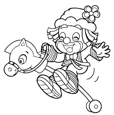 Desenho de Dia do Circo para colorir - Patati e Patatá